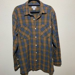 CARHARTT Mens Large Plaid Button Up